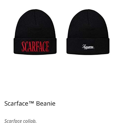 d2bfb3d6cf2 Amazon.com  SupremeNewYork Supreme Scarface Beanie Black FW17 100%  Authentic Real Sold Out Rare  Clothing