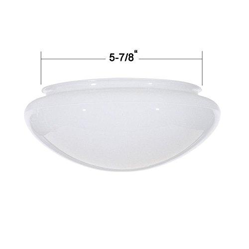 (7.5-Inch White Mushroom Glass Shade - 5-7/8-Inch Fitter Opening)