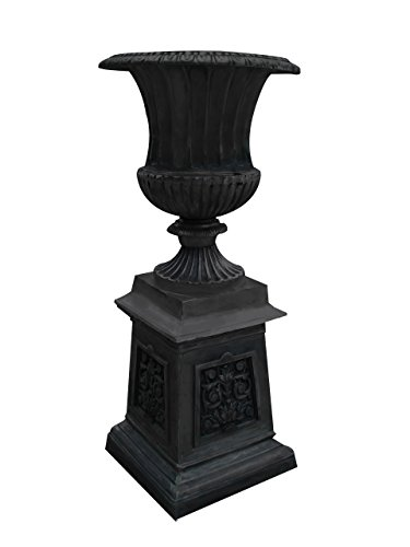 47''t Large Venetian Aluminum Flower Urn On Base-Warm Caramel by A Rustic Garden
