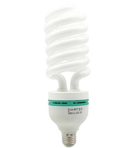 zdMoon 150w Continuous Cfl 5500k Fluorescet Light Bulb Full Spectrum Photography Photo Bulb by zdMoon