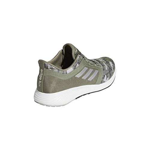 adidas Women's Edge Lux 3 Running Shoe, Legacy Green/Silver Metallic/Grey, 11.5 M US