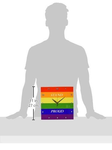3dRose Florene Lifestyle 10x10 Wall Clock Gay Pride dpp/_53259/_1