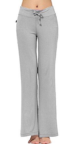 TownCat Women's Modal Comfy Straight Sleek-fit Slacks Yoga Pants (Lightgrey1, XXXL) by TownCat