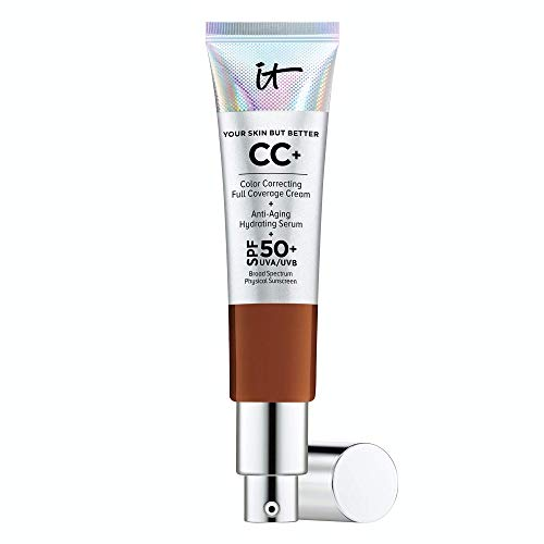 IT Cosmetics Your Skin But Better CC+ Cream, Deep (N) – Color Correcting Cream, Full-Coverage Foundation, Anti-Aging…
