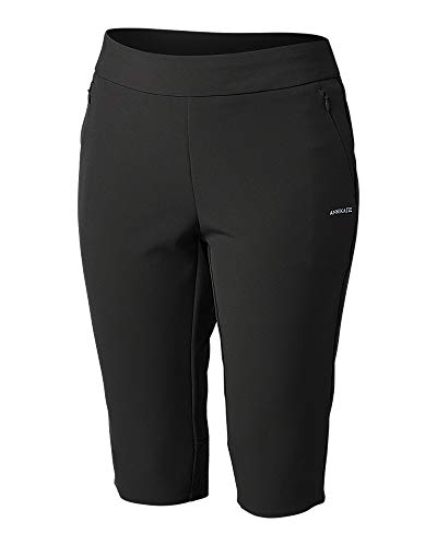 - Cutter & Buck Women's Moisture Wicking Drytec 50 UPF Competitor Pull-On Knee Short, Black XX-Large