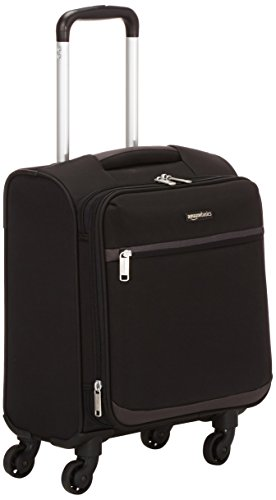 AmazonBasics Softside Carry-On Spinner Luggage Suitcase - 18 Inch, Black (Best Lightweight Luggage Brands)