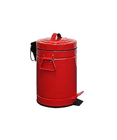 Highlands Retro Kuche Abfallsammler Rot Stahl Badezimmer Vintage