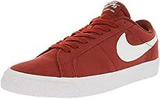 be014bfdb01e Nike Men s Sb Blazer Zoom Low Dark Cayenne White Top Canvas Skateboarding  Shoe - 11M