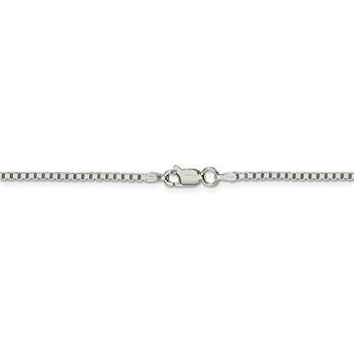 Mireval 10K Yellow Gold 1.25mm Box Chain Anklet 9