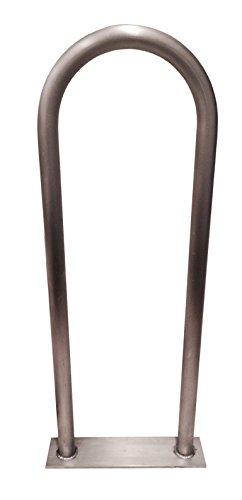 """48"""" (H) x 13"""" (W) Aluminum Handrail w/ Flate Base Plate -..."""