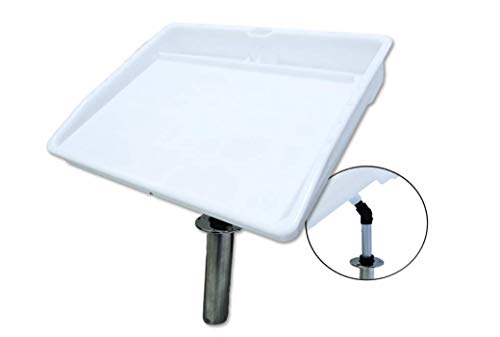 - Pactrade Marine Fishing Fillet Table Bait Cutting Board Single Rod Holder Mount