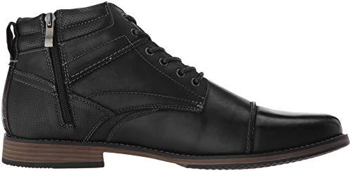 Boot Madden Black Leather Steve Men's Parkson Ankle FIxzfq