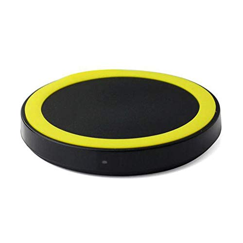 Price comparison product image Buybuybuy Wireless Charger,  Qi-Certified Ultra-Slim Wireless Charger Compatible iPhone X,  iPhone 8 / 8 Plus,  Galaxy Note9 / S9 / S9 Plus / NOTE 8 / S8 / S8 Plus More,  PowerPort Wireless 5 Pad (Yellow)