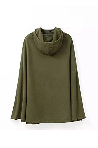Frente Green Con Capucha Abierto Gotica De Poncho Outwear Capa Chaquetas Abrigos Manteau Mujeres 7xOqnCT4wx