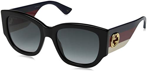 Gucci GG0276S 001 Black GG0276S Square Sunglasses Lens Category 3 Size ()