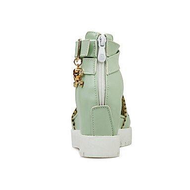 LvYuan Mujer-Tacón Plano-Otro-Sandalias-Oficina y Trabajo Vestido Informal-PU-Azul Rosa Blanco Verde Claro light green