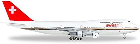 """Herpa 1:200 Scale Diecast Airliners Swissair 747-300M HB-IGC """"Chocolate Livery"""" (1:200) [並行輸入品]"""