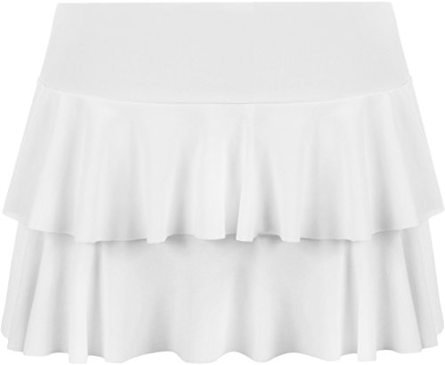 WearAll - Mini-jupe ruche - Jupes - Femmes - Tailles 36 42 Blanc