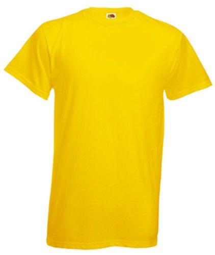 Fruit of the Loom Herren Plain Heavy Cotton T-Shirt Gelb XXL