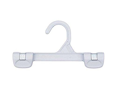 NAHANCO 1681/8W Snap Grip Plastic Hook Skirt/Slack Hanger, 8'', White (Pack of 200)