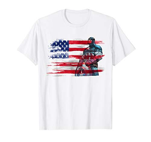 Marvel Captain America Stand to Honor RedWhiteBlue T-Shirt
