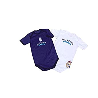 Pack 2 Bodys Real Madrid para bebé Manga Corta: Amazon.es: Ropa y ...