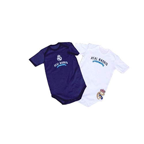 Pack 2 Bodys Real Madrid para bebé Manga Corta: Amazon.es: Ropa y ...
