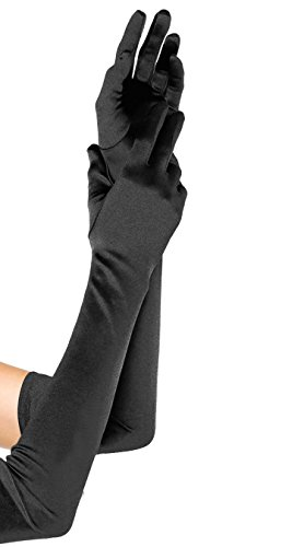 [Emust Women's Roaring 20s Opera Length Costume Gloves BlackColor Size One Size] (The Great Gatsby Costumes To)