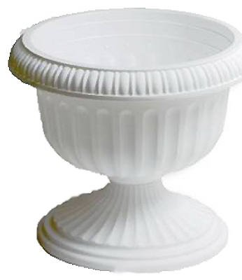 Southern Patio 18'' Grecian Urn, White by Southern Patio