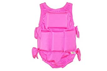 My Pool Pal Girl's Flotation Swimsuit, Solid Pink, Small