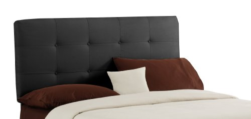 Skyline Furniture Surrey King Micro-Suede-Upholstered Tufted Headboard, Black