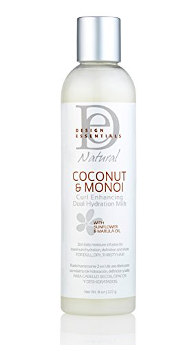 Design Essentials Natural Curl Enhancing Dual Hydration Repairative Coconut Milk w/Sunflower & Marula Oil-Coconut & Monoi...
