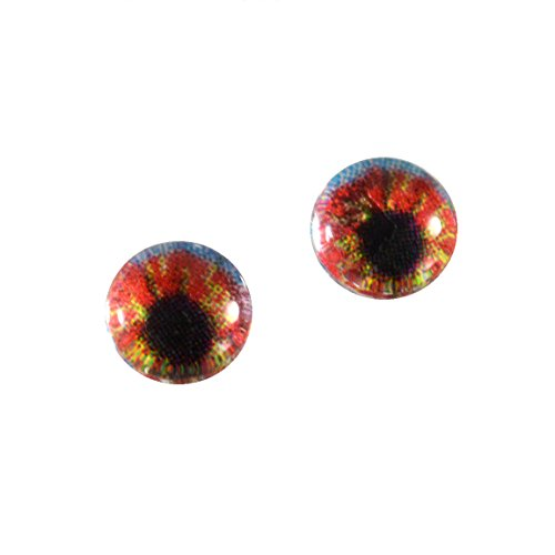 6mm Small Watercolor Style Glass Eyes Doll Irises for Art Polymer Clay (Glass Eyes Toys Dolls)