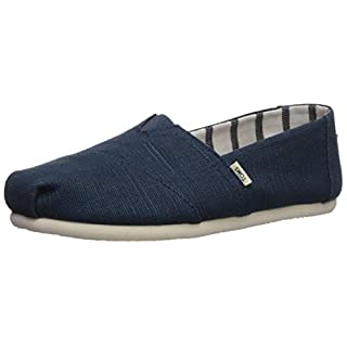 TOMS Women's Venice Majolica Blue Heritage Canvas 10011671 (Size: 10)