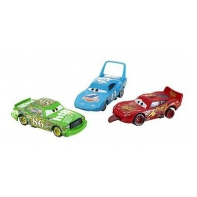 Disney / Pixar CARS Movie 1:55 Die Cast Car Race-O-Rama 3-Car Gift Pack The King, Finish Line Lightning McQueen and Chick Hicks: Toys & Games