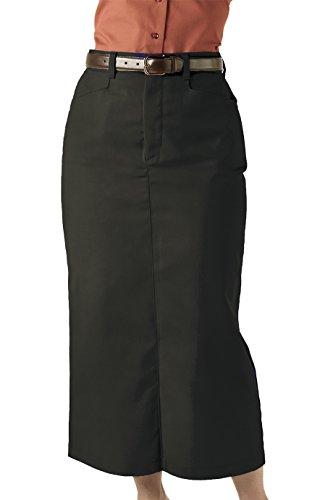 - Edwards Garment Women's Chino Long Length Wrinkle Resistant Skirt, BLACK, 10 R