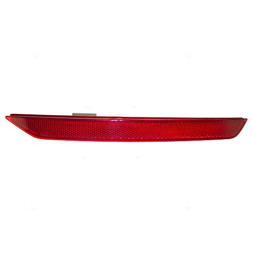 Passengers Rear Bumper Reflector Signal Light Lens Replacement for Honda Odyssey 33505-TK8-A01 HO1185100 ()