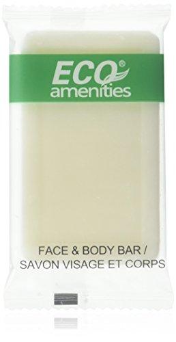 ECO AMENITIES Travel size 1oz hotel soap in bulk, White, Green Tea, 200 Count - H2o Green Tea
