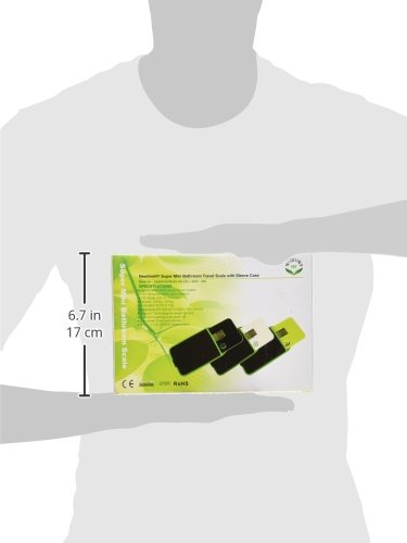 NewlineNY Step-on Super Mini Smallest Travel Bathroom Scale with Protection Sleeve: SBB0638SM-BK (Black) + NY-SMS-S001-BG by NewlineNY (Image #10)