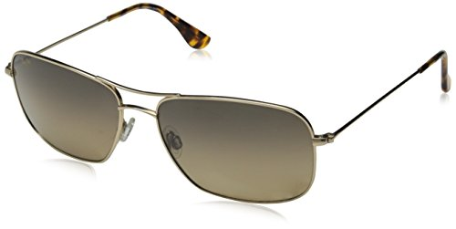 Maui Jim HS246-16 Gold/HCL Bronze Lens Wiki Wiki Aviator Sunglasses - Aviator The Wiki