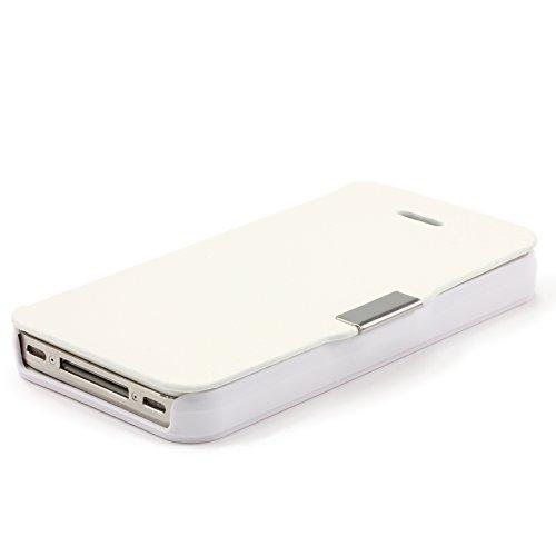 Étui iPhone 5c, Urcover Wallet Livre Case Housse Blanc Coque Apple iPhone 5c [Fermeture Magnétique] Téléphone Smartphone