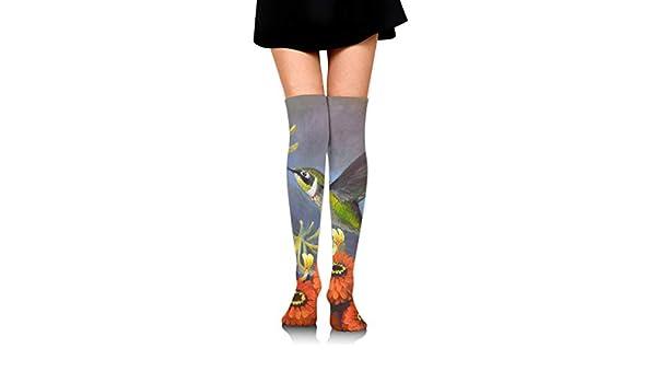 High Elasticity Girl Cotton Knee High Socks Uniform Mum Hummingbird Women Tube Socks