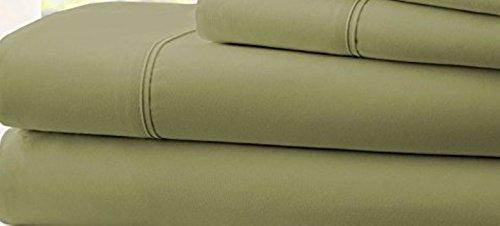 Hotel 1800 Comfort Count Deep Pocket 4 Piece Bed Sheet Set Green Twin
