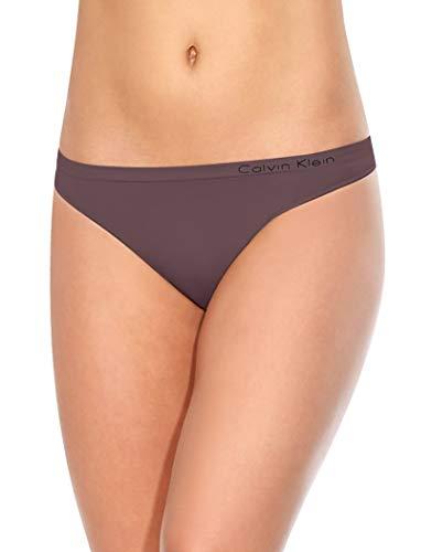 Calvin Klein Women's Pure Seamless Thong Panty, Sparrow, Small