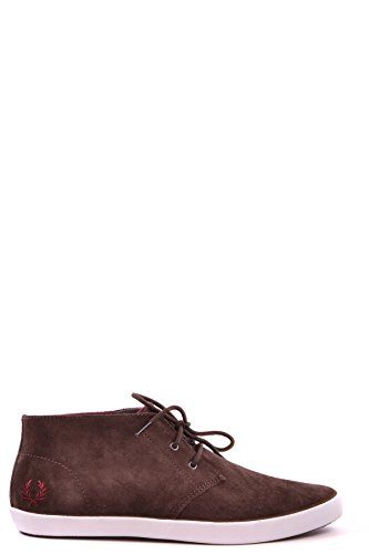 FRED PERRY HOMME MCBI128068O MARRON SUÈDE BASKETS