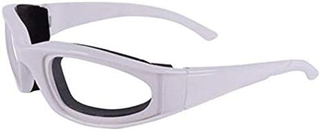 Luntus Libre de Lágrimas Gafas de Protección para Picado de Cebolla Gafas de Protector de Ojos Herramienta de Cocina Gadget Blanco