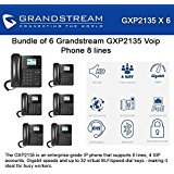 Grandstream GXP2135 6-PACK Voip Phone 8 lines Enterprise Grade High Performance