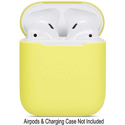 Compatible Airpods Case, Protective Ultra-Thin Soft Silicone Shockproof Non-Slip Protection Accessories Cover Case for Apple Airpods 2 & 1 Charging Case - Yellow