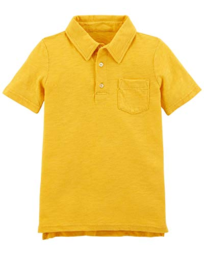Carter's Boys' Garment-Dyed Slub Jersey Polo, Gold, -