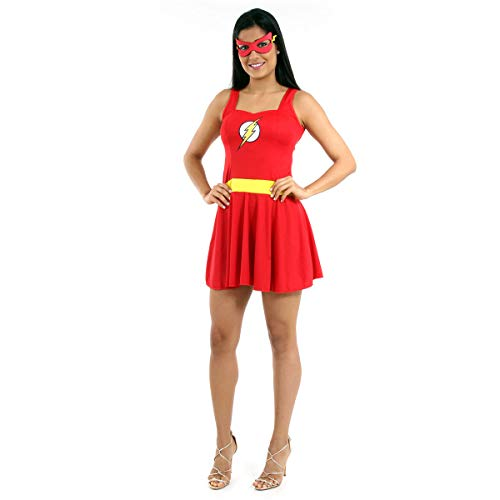Fantasia The Flash Verão Adulto Sulamericana Fantasias Vermelho G 46/48